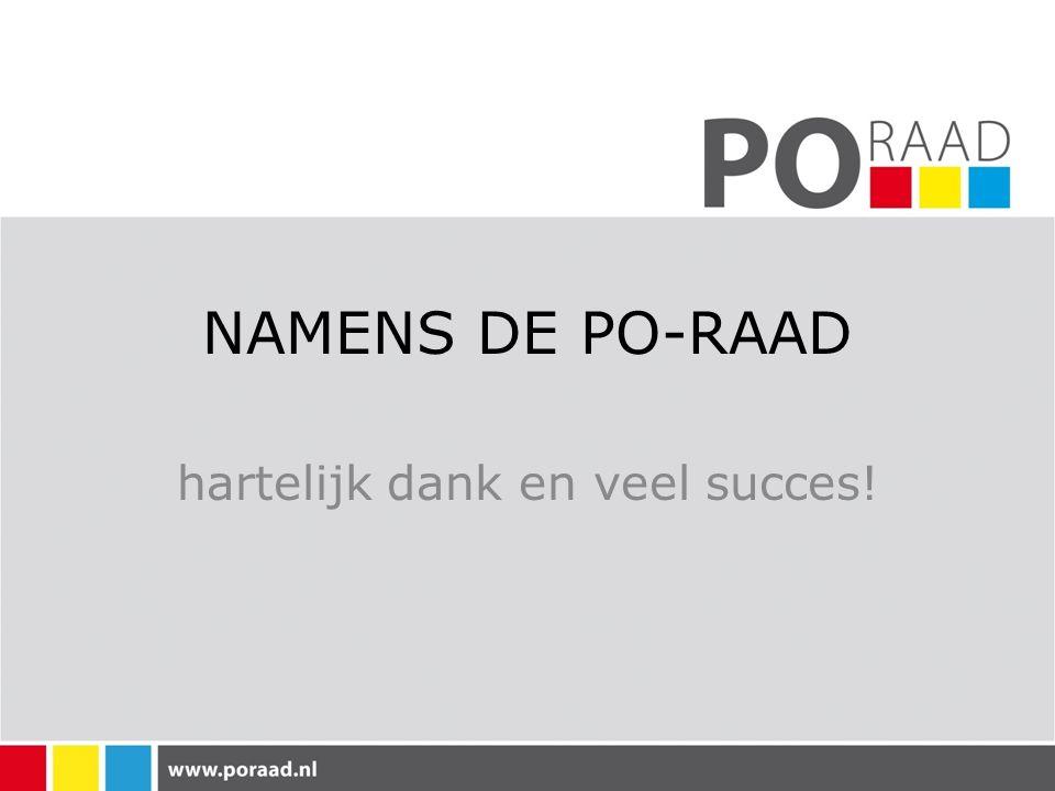 NAMENS DE PO-RAAD hartelijk dank en veel succes!