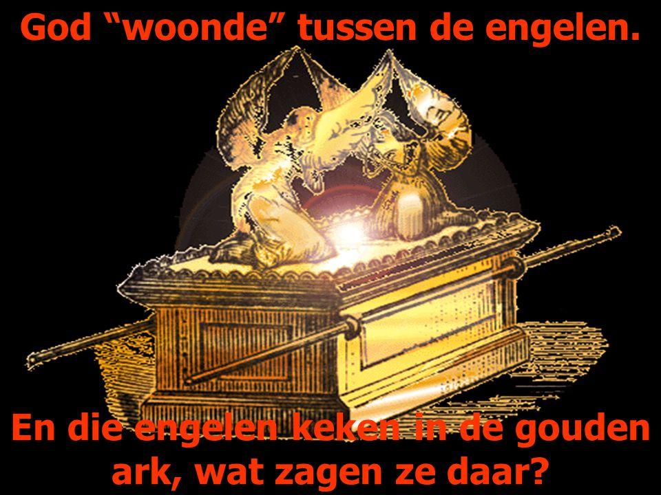 """God """"woonde"""" tussen de engelen. En die engelen keken in de gouden ark, wat zagen ze daar?"""