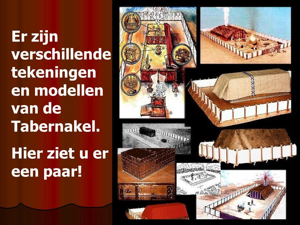 Er zijn verschillende tekeningen en modellen van de Tabernakel. Hier ziet u er een paar!