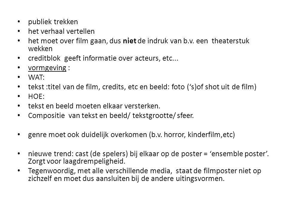 • INFORMATIE OVER DE AFFICHEPRIJS 2012: • De filmposters van L'amour des moules, Doodslag, De Heineken Ontvoering, Kauwboy en Kyteman Now What.