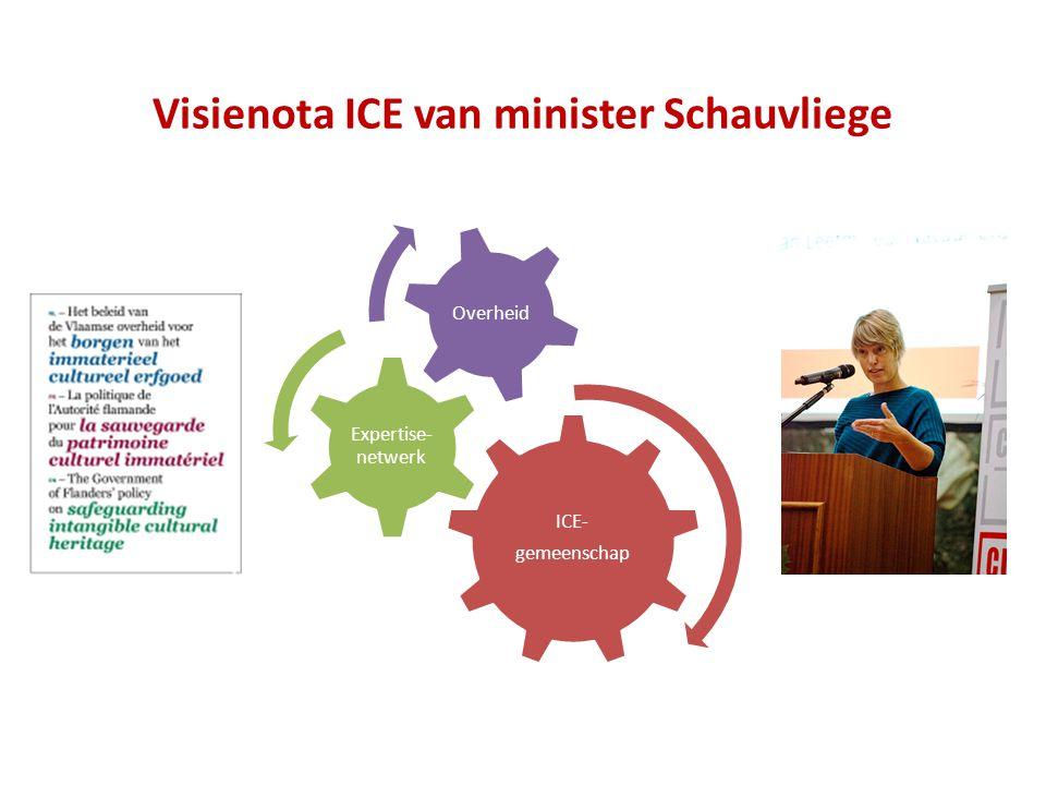 Visienota ICE van minister Schauvliege ICE- gemeenschap Expertise- netwerk Overheid