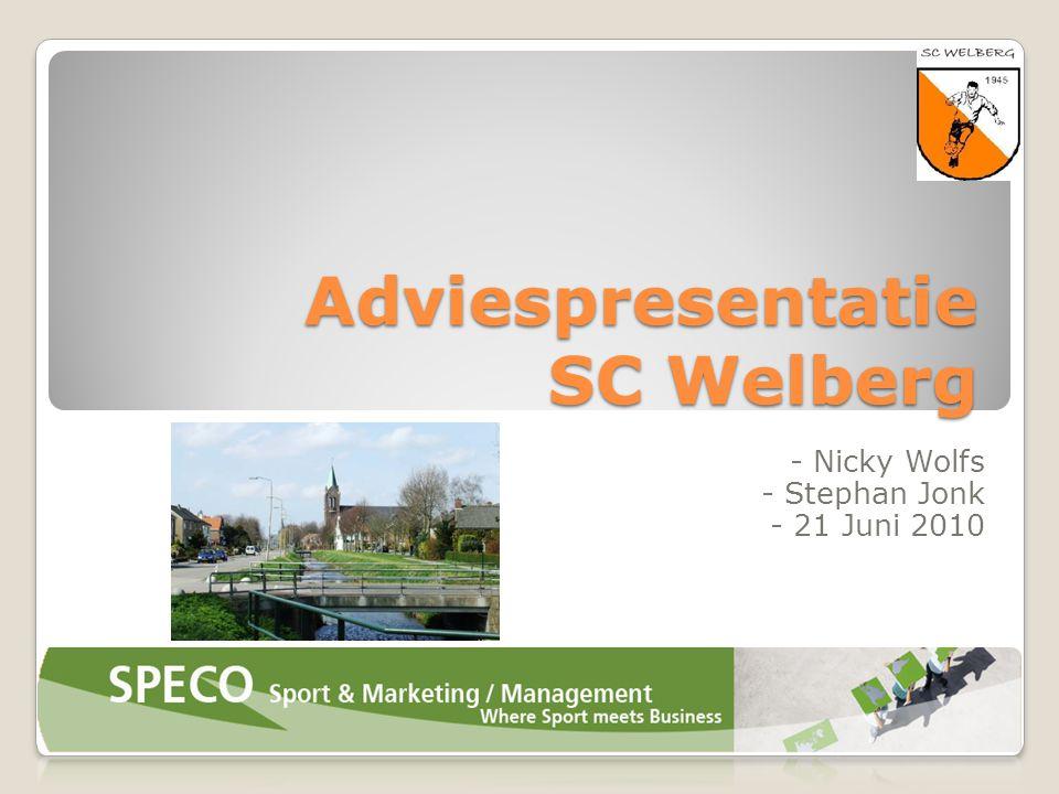 Adviespresentatie SC Welberg - Nicky Wolfs - Stephan Jonk - 21 Juni 2010