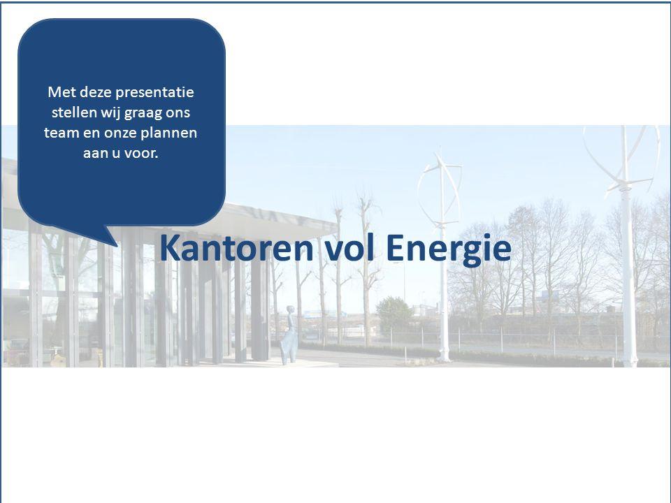 Kantoren vol Energie Met deze presentatie stellen wij graag ons team en onze plannen aan u voor.