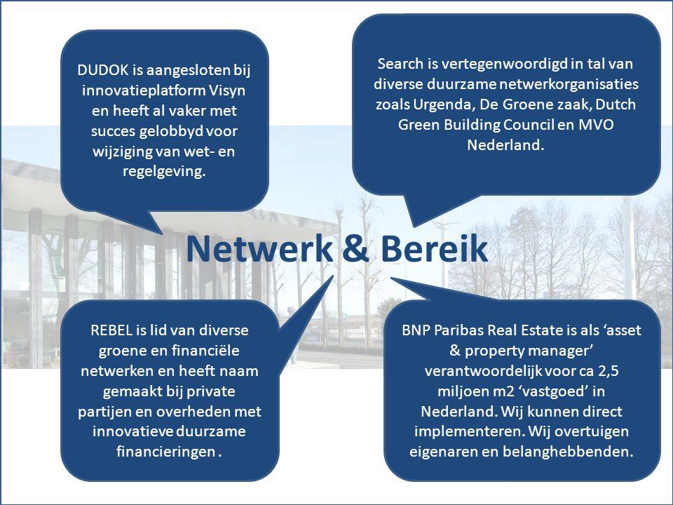 Netwerk & Bereik DUDOK is aangesloten bij innovatieplatform Visyn en heeft al vaker met succes gelobbyd voor wijziging van wet- en regelgeving.