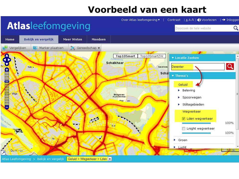 Voorbeeld van een kaart Schakeldag 7 juni 2011