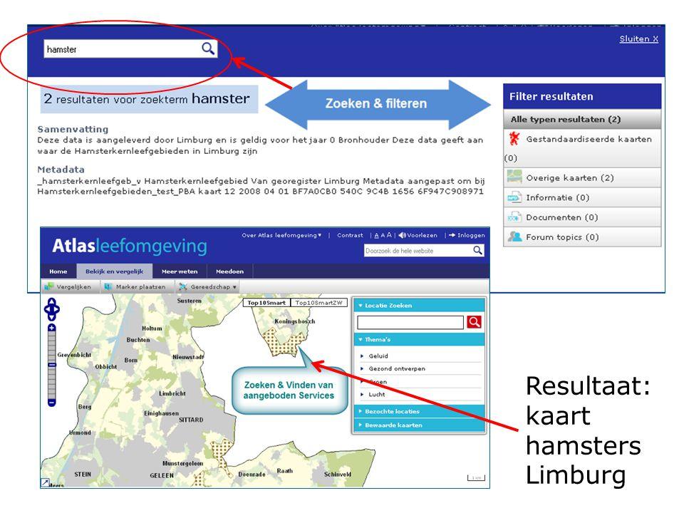 Resultaat: kaart hamsters Limburg Schakeldag 7 juni 2011
