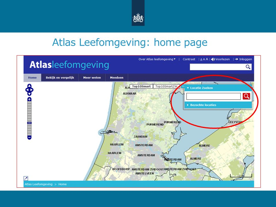 Atlas Leefomgeving: home page