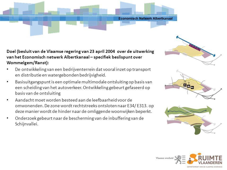 Doel (besluit van de Vlaamse regering van 23 april 2004 over de uitwerking van het Economisch netwerk Albertkanaal – specifiek beslispunt over Wommelg