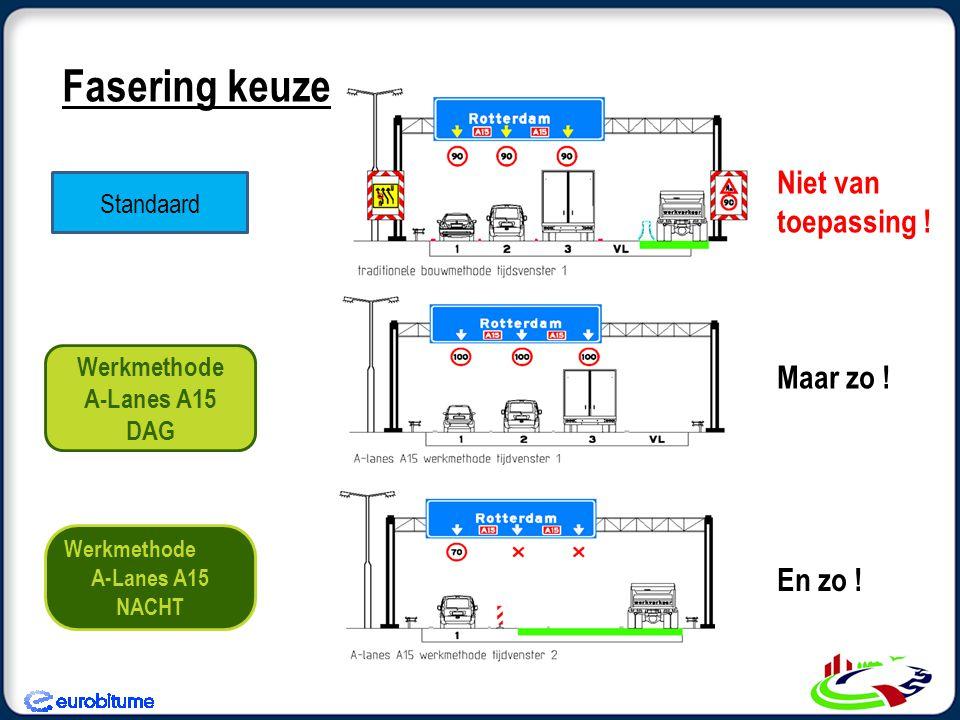 Standaard Werkmethode A-Lanes A15 DAG Werkmethode A-Lanes A15 NACHT Niet van toepassing .