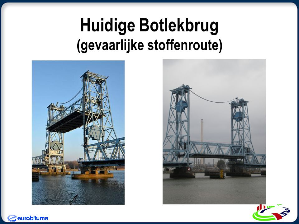 Huidige Botlekbrug versus Nieuwe Botlekbrug