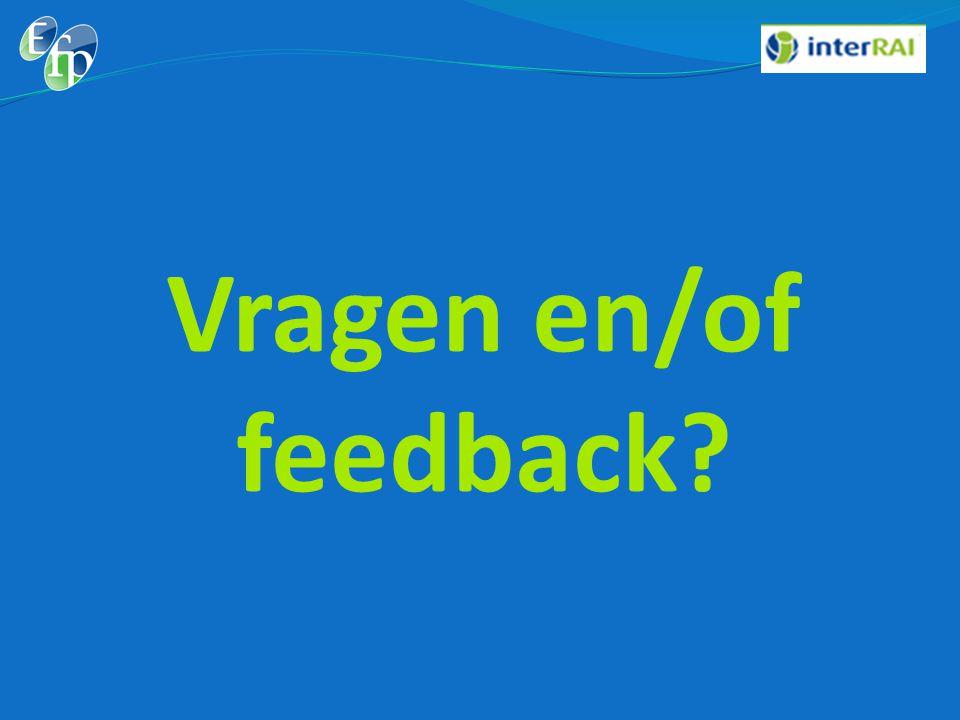 Vragen en/of feedback?