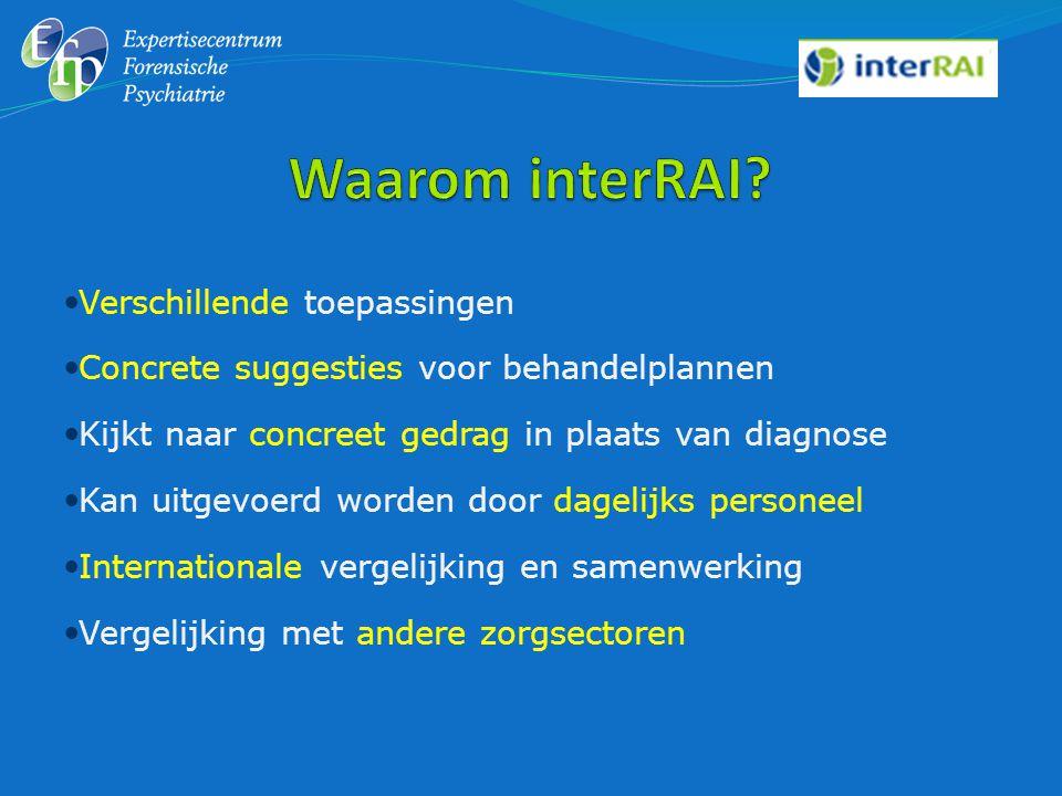 Hebben de interRAI-instrumenten toegevoegde waarde voor de behandelaars.