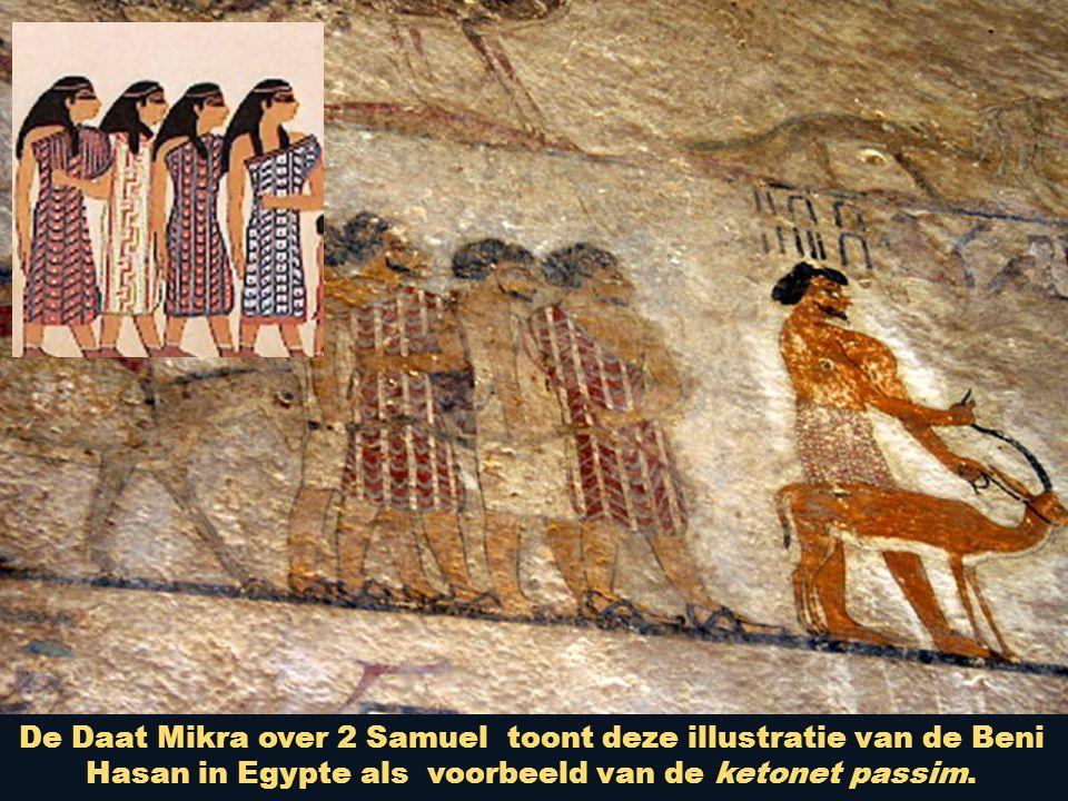 De Daat Mikra over 2 Samuel toont deze illustratie van de Beni Hasan in Egypte als voorbeeld van de ketonet passim.