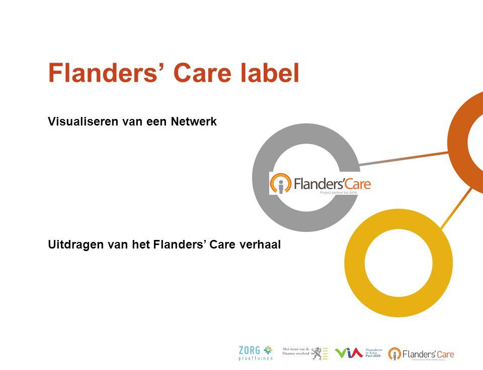 Flanders' Care label •Visualiseren van een Netwerk •Uitdragen van het Flanders' Care verhaal