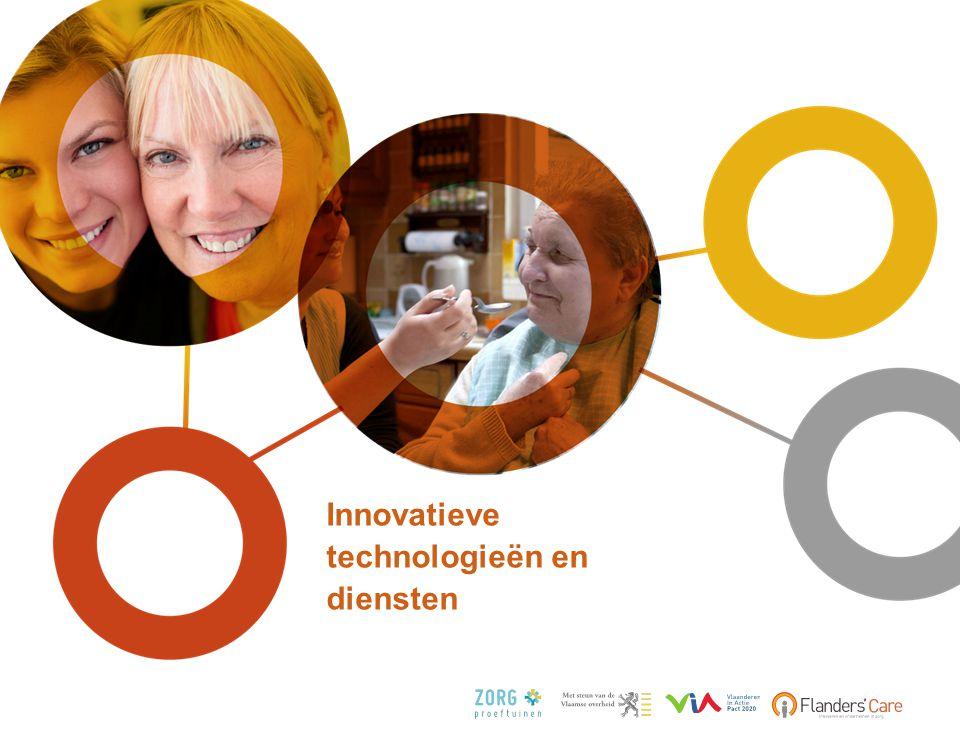 Over de hele innovatiecyclus FC Invest (PMV) Demonstratieprojecten Accreditatie IWT R&D fondsen ONDERZOEK & ONTWIKKELING IMPLEMENTATIE INTERNATIONALE VALORISATIE DEMONSTRATIE Zorgproeftuin FIT Contactpunt voor Ondernemers in de Zorg Innovatiecentrum MIC