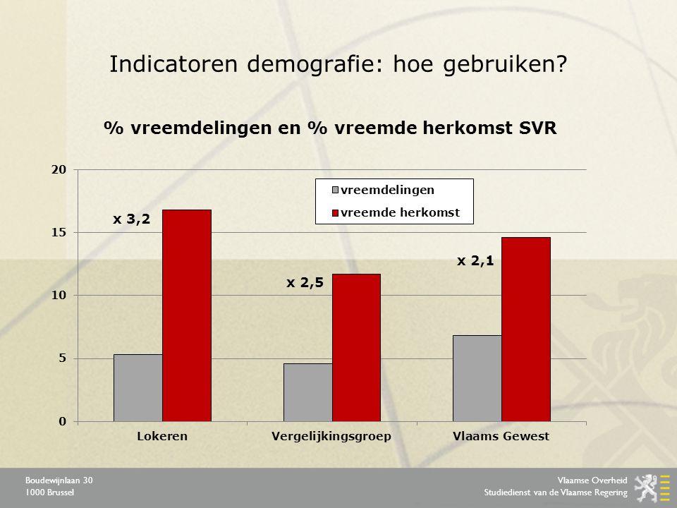 Vlaamse Overheid Studiedienst van de Vlaamse Regering Boudewijnlaan 30 1000 Brussel Indicatoren demografie: hoe gebruiken.