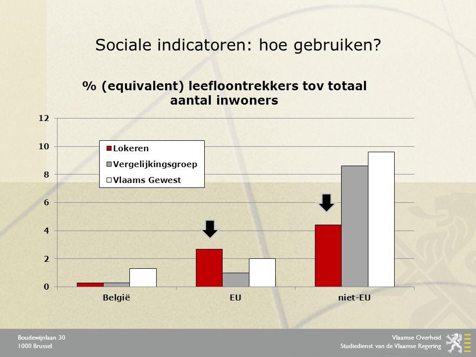 Vlaamse Overheid Studiedienst van de Vlaamse Regering Boudewijnlaan 30 1000 Brussel Sociale indicatoren: hoe gebruiken