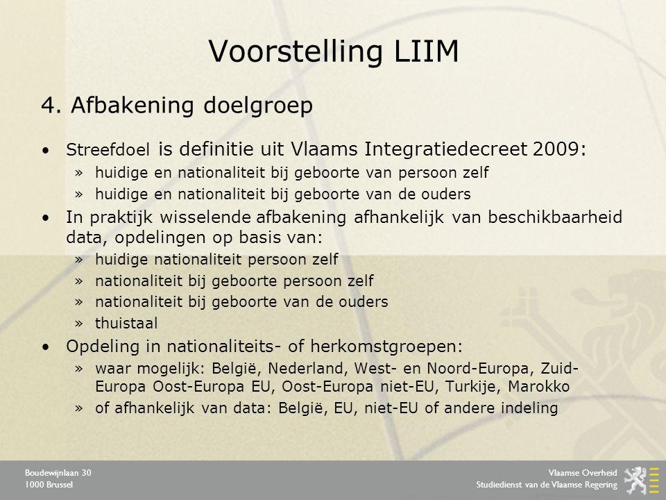 Vlaamse Overheid Studiedienst van de Vlaamse Regering Boudewijnlaan 30 1000 Brussel Voorstelling LIIM 4.