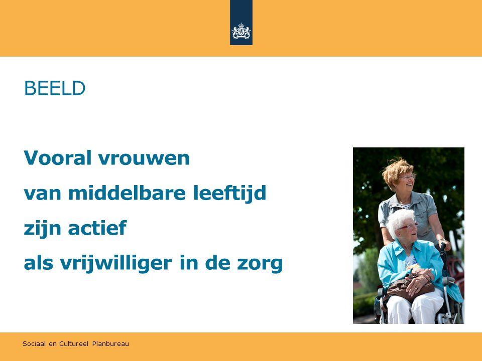 Sociaal en Cultureel Planbureau BEELD Vooral vrouwen van middelbare leeftijd zijn actief als vrijwilliger in de zorg