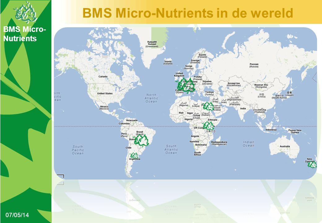 BMS Micro- Nutrients BMS Micro-Nutrients in de wereld 07/05/14
