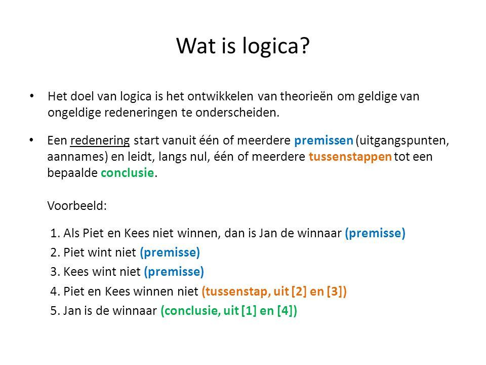 Een voorbeeld (II) ¬(¬P V Q) |= ¬Q ? ¬Q¬(¬P V Q) Q ¬P V Q