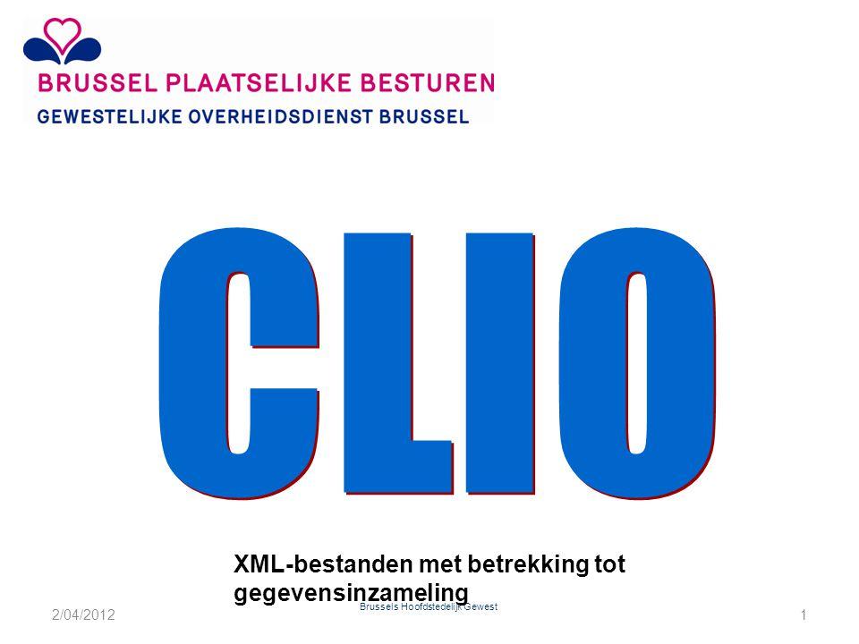 Brussels Hoofdstedelijk Gewest XML-bestanden met betrekking tot gegevensinzameling 2/04/20121