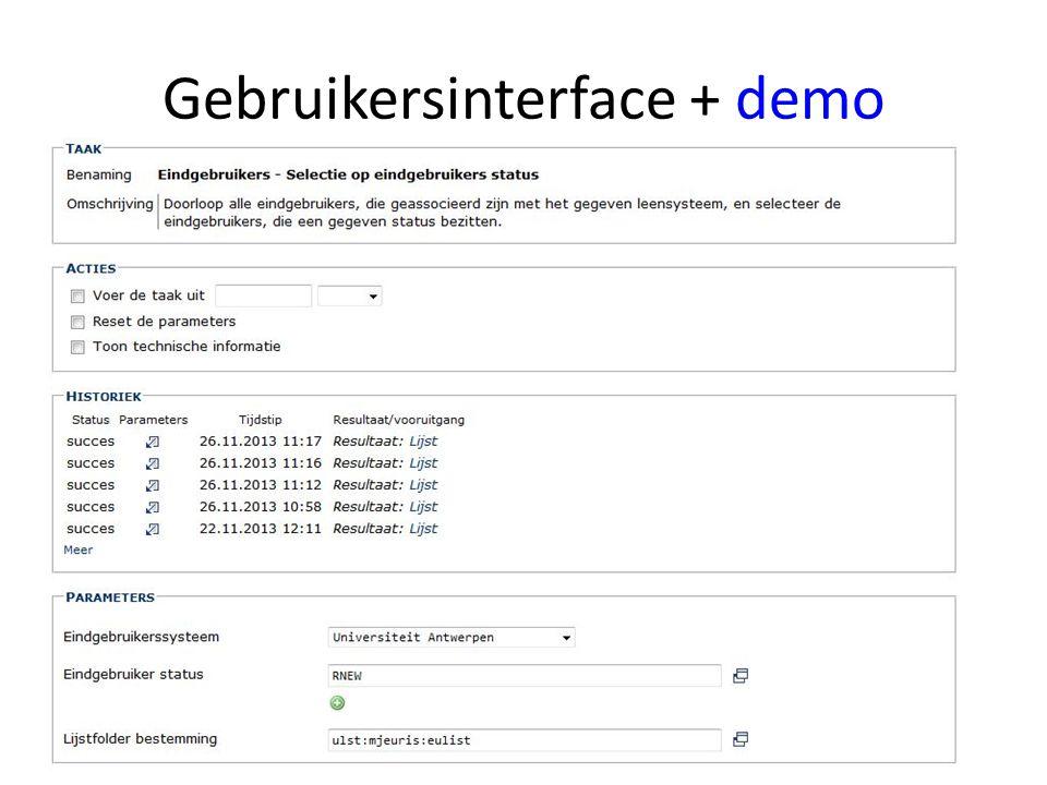 Gebruikersinterface + demodemo