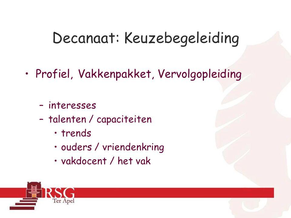 Profielkeuzeproces •Voor herfstvakantie in mentor-uur: inlogcode voor www.Qompas.nl met o.a.:www.Qompas.nl –Profielen en profielvakken –Info voor ouders –Profielkeuzetest –Interesse-vragenlijst –Competentietest www.qompas.nl