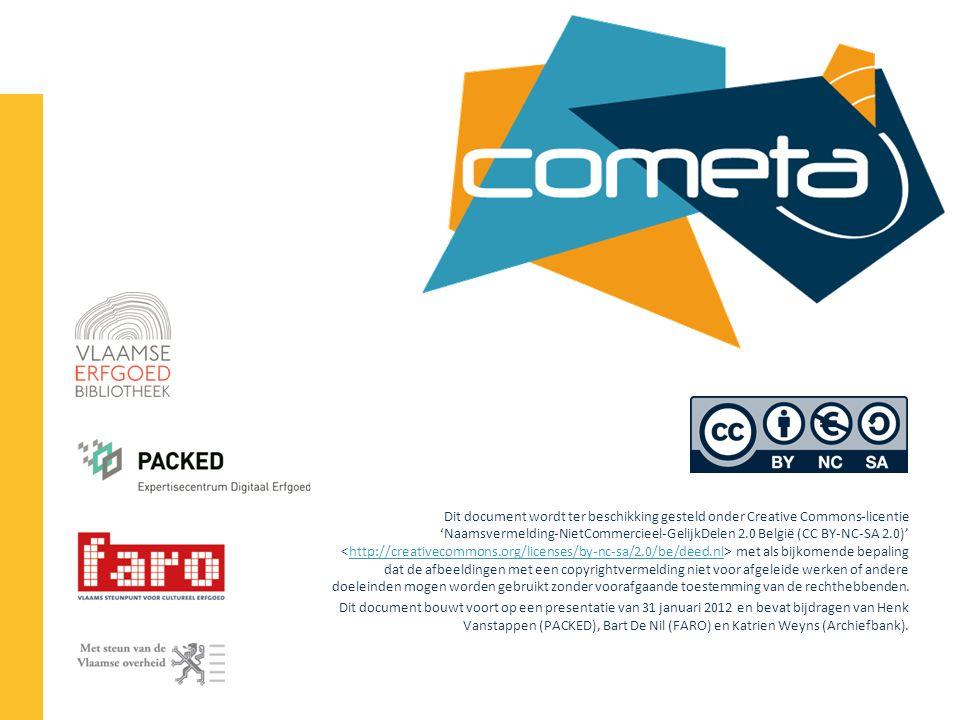 Dit document wordt ter beschikking gesteld onder Creative Commons-licentie 'Naamsvermelding-NietCommercieel-GelijkDelen 2.0 België (CC BY-NC-SA 2.0)'