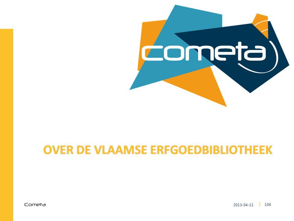 2013-04-11 106 | OVER DE VLAAMSE ERFGOEDBIBLIOTHEEKOVER DE VLAAMSE ERFGOEDBIBLIOTHEEK