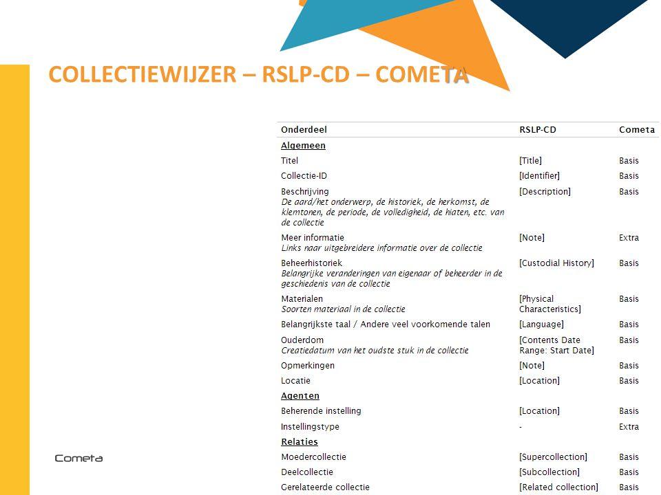 2013-04-11 71 | TA COLLECTIEWIJZER – RSLP-CD – COMETA