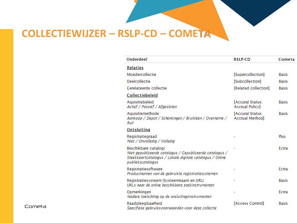 2013-04-11 72 | TA COLLECTIEWIJZER – RSLP-CD – COMETA
