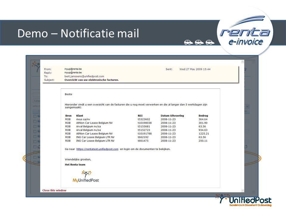 e-invoice Demo – Factuur-archief