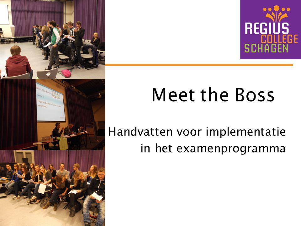 Meet the Boss Handvatten voor implementatie in het examenprogramma
