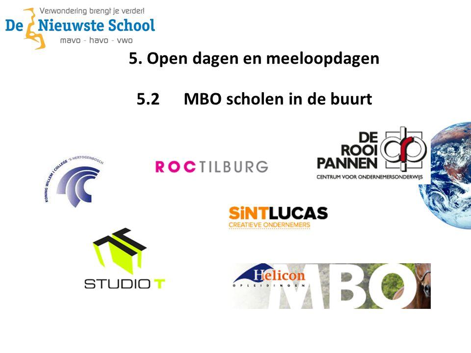 5. Open dagen en meeloopdagen 5.2MBO scholen in de buurt