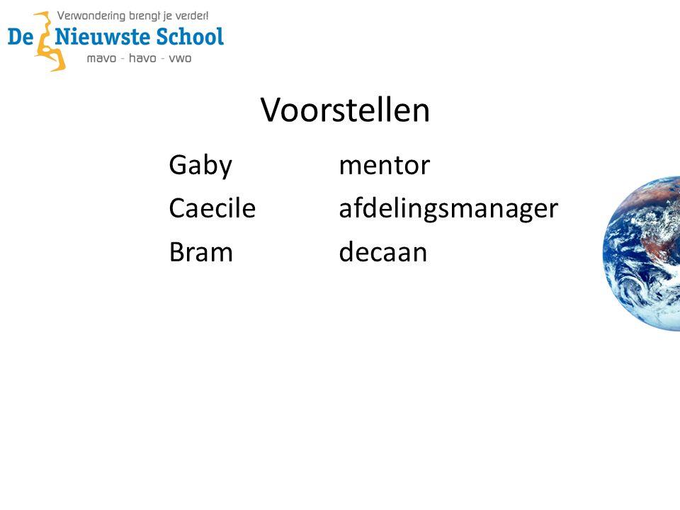 Voorstellen Gabymentor Caecileafdelingsmanager Bramdecaan