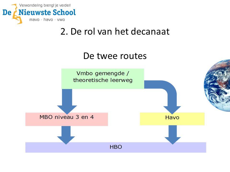 2. De rol van het decanaat De twee routes