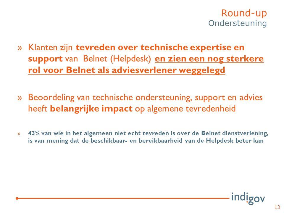 »Klanten zijn tevreden over technische expertise en support van Belnet (Helpdesk) en zien een nog sterkere rol voor Belnet als adviesverlener weggeleg