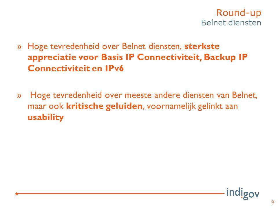 »Hoge tevredenheid over Belnet diensten, sterkste appreciatie voor Basis IP Connectiviteit, Backup IP Connectiviteit en IPv6 » Hoge tevredenheid over