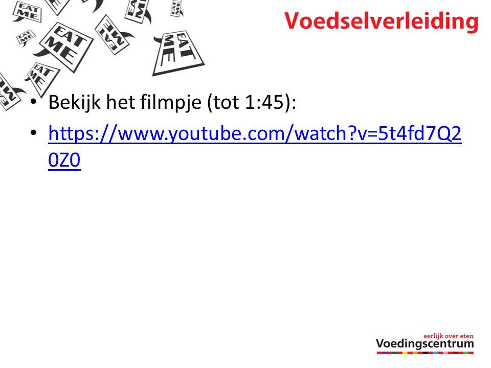 • Bekijk het filmpje (tot 1:45): • https://www.youtube.com/watch?v=5t4fd7Q2 0Z0 https://www.youtube.com/watch?v=5t4fd7Q2 0Z0