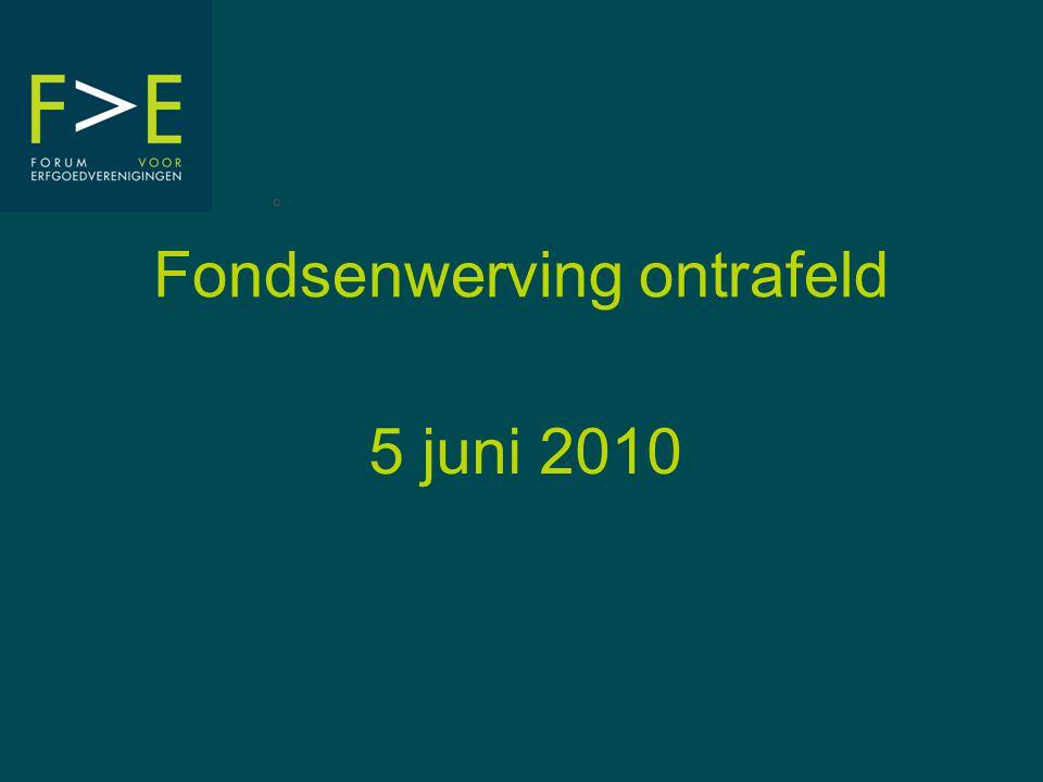 Fondsenwerving ontrafeld 5 juni 2010 °