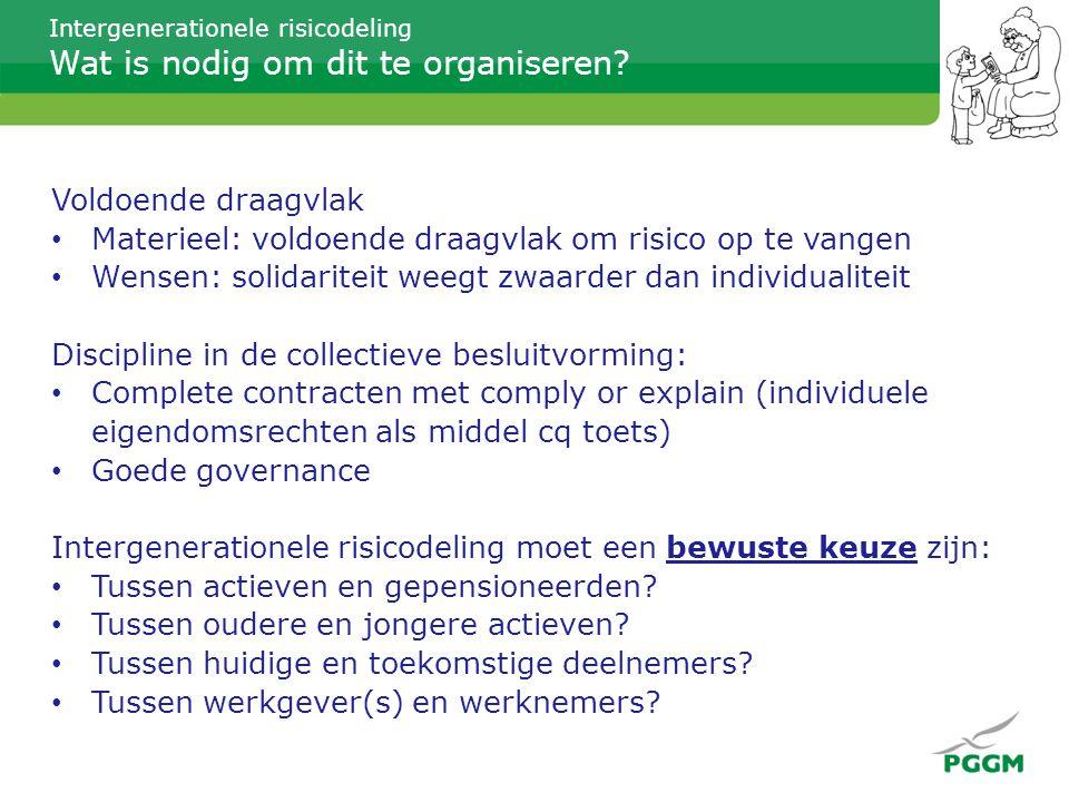 Intergenerationele risicodeling Wat is nodig om dit te organiseren.