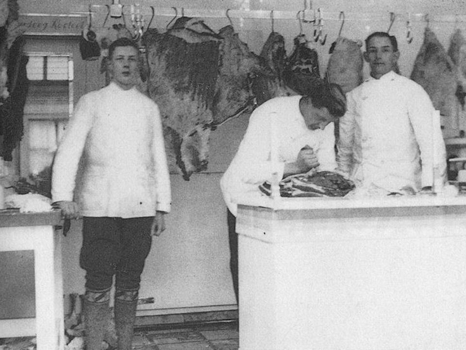 Boerderij Slachterij Slagerij Klant Van slagerij naar klant (stap 4)