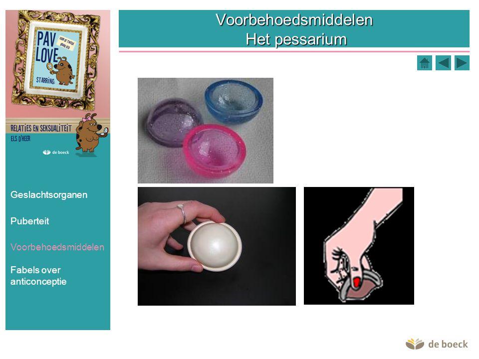 Voorbehoedsmiddelen Het pessarium Geslachtsorganen Puberteit Voorbehoedsmiddelen Fabels over anticonceptie