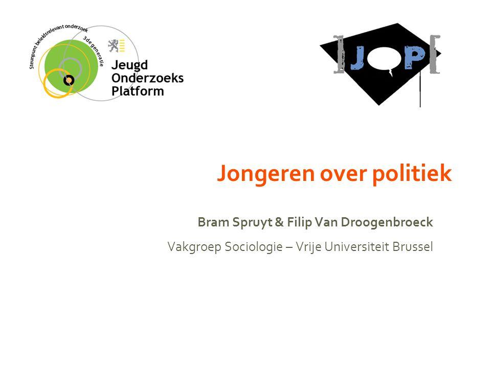 Jongeren over politiek Bram Spruyt & Filip Van Droogenbroeck Vakgroep Sociologie – Vrije Universiteit Brussel
