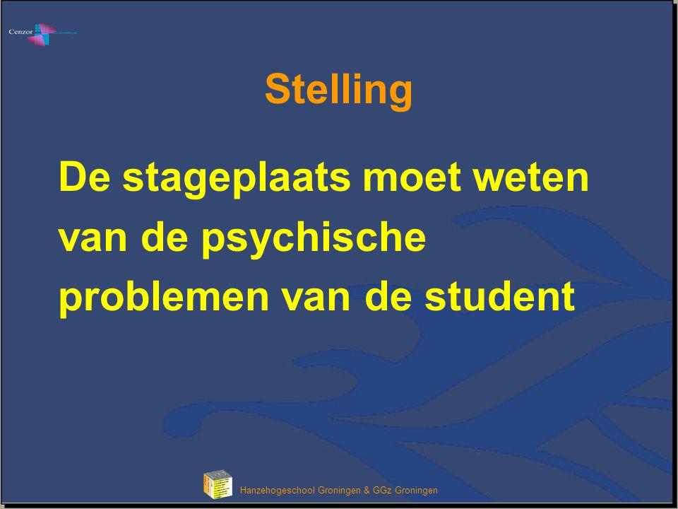 Klik om het opmaakprofiel van de modeltitel te bewerken Hanzehogeschool Groningen & GGz Groningen Pauze