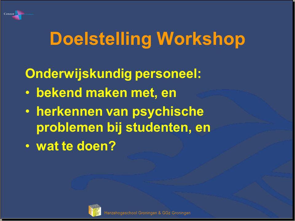 Klik om het opmaakprofiel van de modeltitel te bewerken Hanzehogeschool Groningen & GGz Groningen Bespreek met uw buurman het volgende: •In de pauze komen een paar studenten naar u toe.