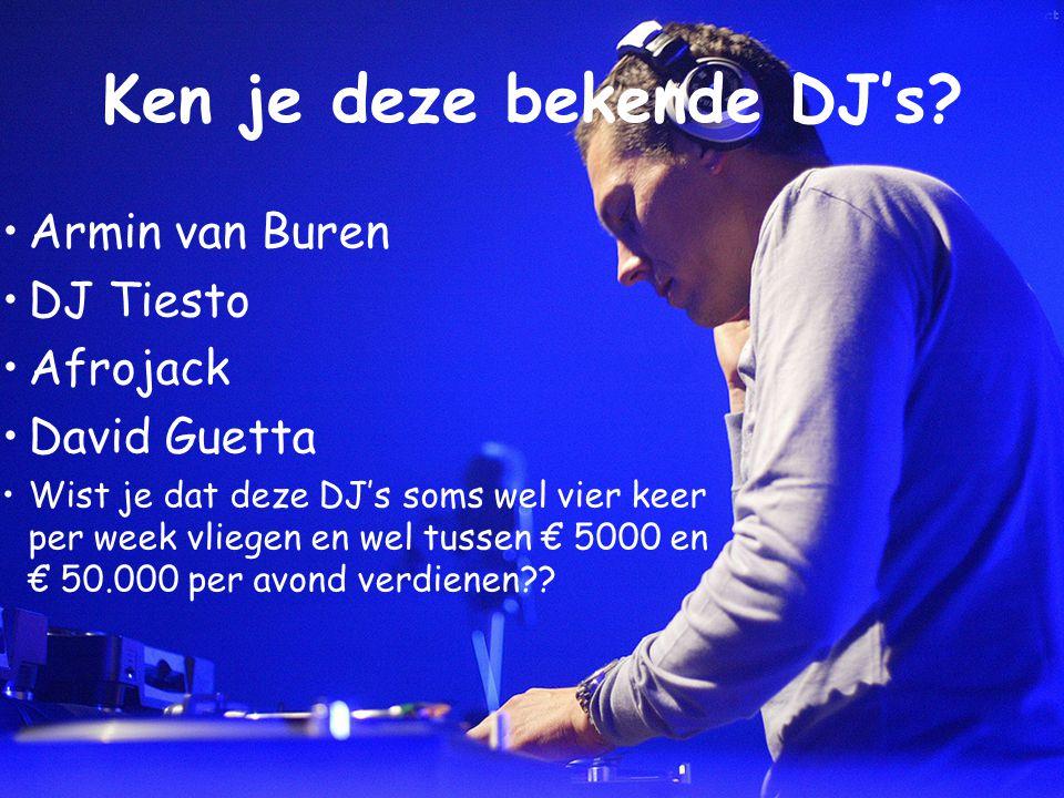 Wat doet een club DJ? Hiphop & R&B DJ's >> Mixen >> Scratchen Hij Heeft nodig: >> Mengpaneel >> CD's / Platen >> Hoofdtelefoon Club/House DJ >> Mixen