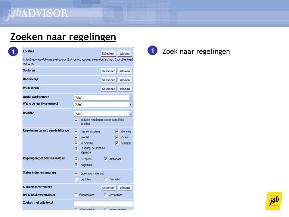Zoeken naar regelingen 1 Zoek naar regelingen 2 2 Eenvoudig overzicht van zoekresultaten 2 1