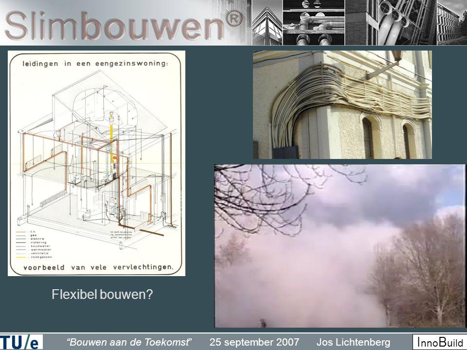 Bouwen aan de Toekomst 25 september 2007 Jos Lichtenberg I nno B uild Flexibel bouwen?